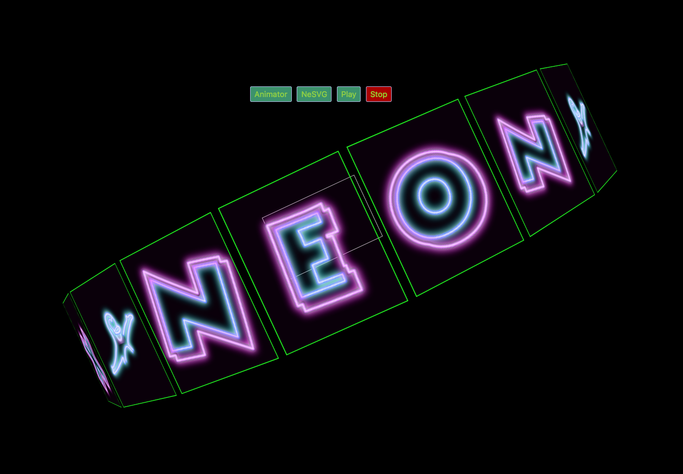 Front page work on new neon-themed Math Scrabble Game